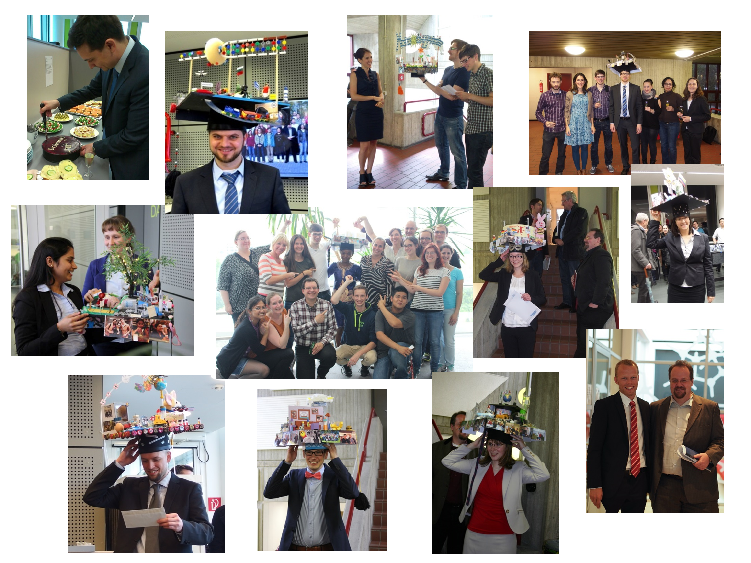 Gallery depicting our PhD graduates