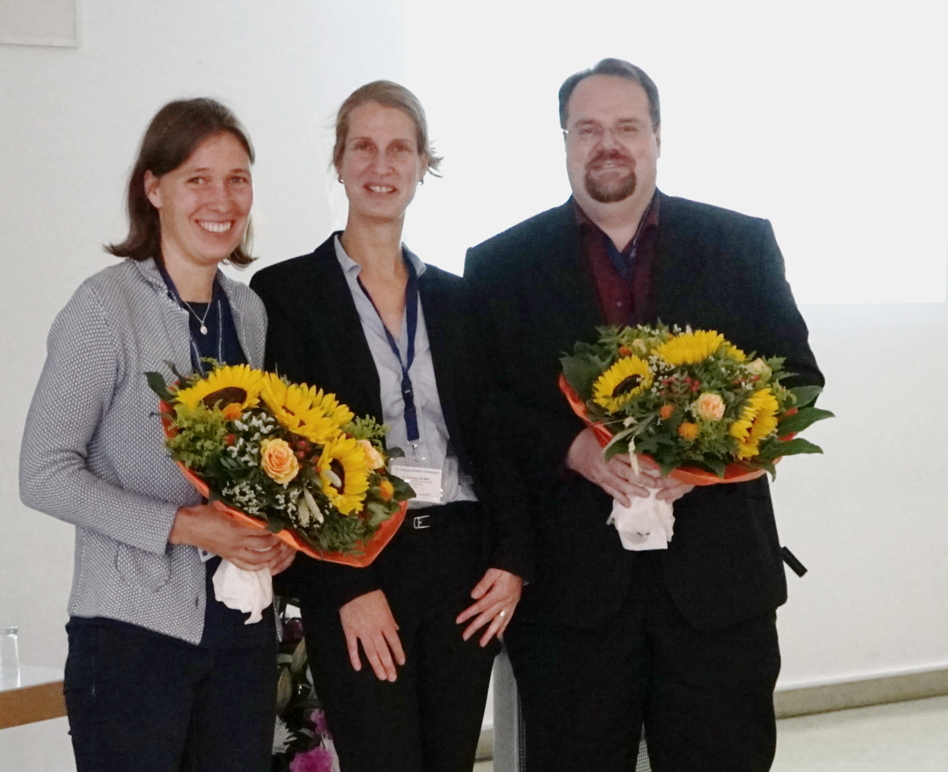 2016 BMBF research award winners together with Christina de Witt from BMBF