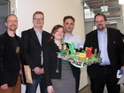 Kristin Rübsam is congratulated by her superisors and reviewers