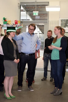 Photo of Kristin Rübsam with her PhD hat