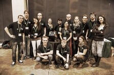 Group picture of iGEM2014 RWTH Aachen team who won gold medal for the best development of an analytical method