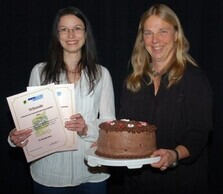 Teaching award 2014 at RWTH Aachen University for Dr. Tamara Dworek (left) and Dr. Monika Reiss (right)